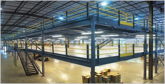 重型横梁钢结构阁楼货架